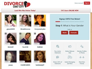 Divorce Chat City Homepage Image