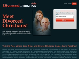 Divorced Christian Singles Homepage Image
